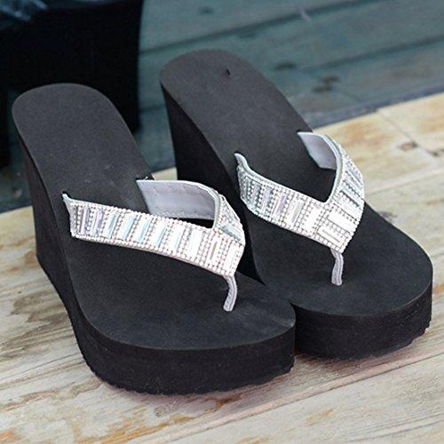 Marrón Negro Los Dedo Zapatos Deporte Talones De Las Altos Grueso Nuevas Alto Al Aire Libre Zapatillas Color Tacón Del Pie Nan Mujeres vY0RqHw0