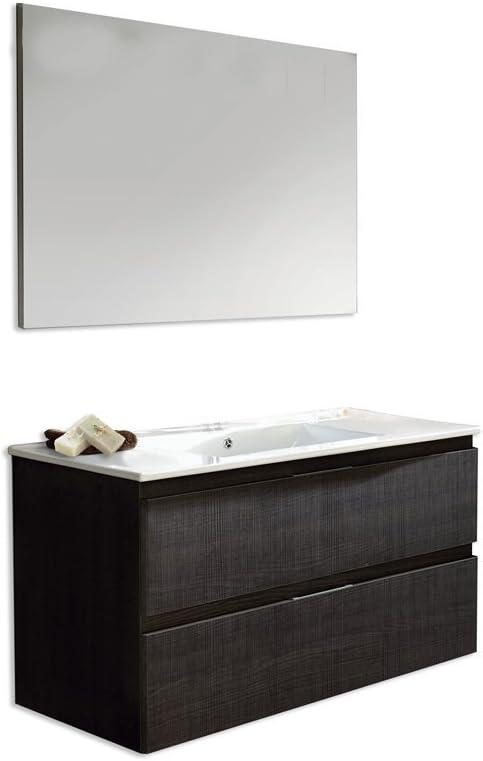 Platos de ducha y mamparas Conjunto Naima_PdM_ Mueble + encimera cerámica + Espejo Liso (Blanco Brillo, 60cm): Amazon.es: Hogar