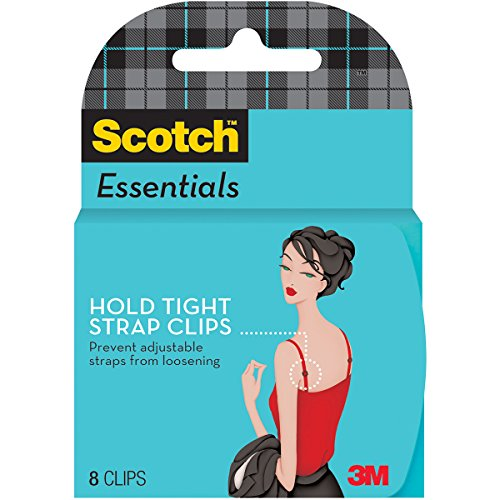 Scotch Essentials Hold Tight Strap Clips, Translucent, 4 Pair (W-123-A)