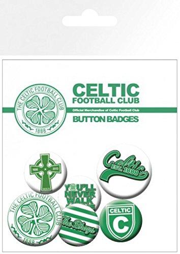 Badges Paquet Sticker 15x10 amp; Celtic The Football 32mm Set 4 1art1® Club Cm 2 Surprise De X 25mm Football 1x WfZW7Oz