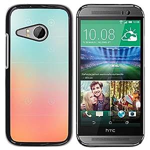 Paccase / SLIM PC / Aliminium Casa Carcasa Funda Case Cover para - Glass Peach Pink Stripes Color Fog - HTC ONE MINI 2 / M8 MINI