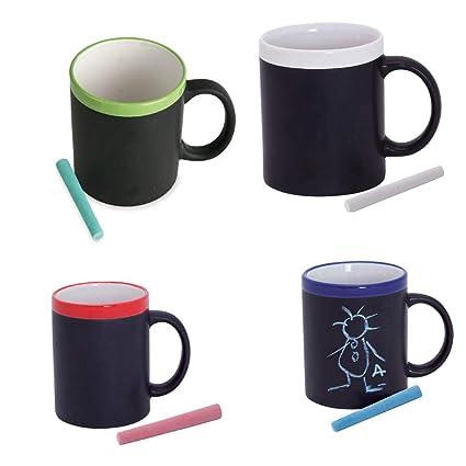 Gargola Lote de 18 Tazas Pizarra Tazas Originales para Colorear con tizas Tazas Infantiles para Colorear con tizas. Regalos para Niños y niñas ...
