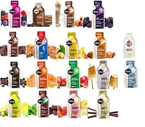 GU Energy Variety Pack All 18 Flavors Sports Gel Endurance Amino Acids Caffeine Electrolytes