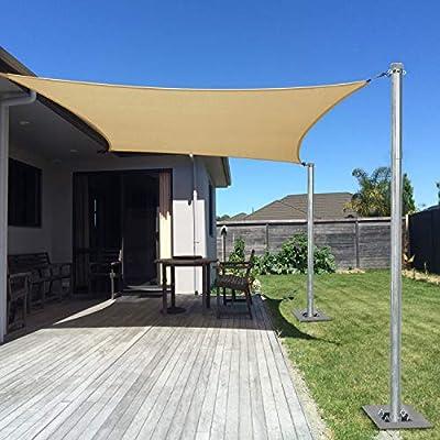 Sunshades Depot - Kit de Soporte para toldo de Vela de Acero ...