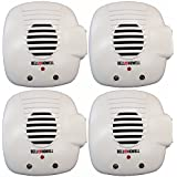 Bell and Howell Ultrasonic Pest Repellers with Extra Outlet - Electronic Pest Control Plug In-Pest Repeller for Insect - Mice , Roaches , Bugs , fleas , Mosquitoes , Spiders (4 Pack)