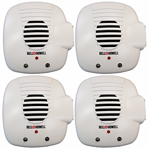 Bell and Howell Ultrasonic Pest Repellers with Extra Outlet - Electronic Pest Control Plug In-Pest Repeller for Insect - Mice , Roaches , Bugs , fleas , Mosquitoes , Spiders - Outlets Bells