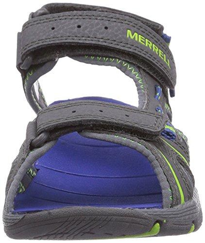 Merrell PANTHER SANDAL - Sandalias Deportivas de material sintético infantil Multicolor (Grey/Blue)