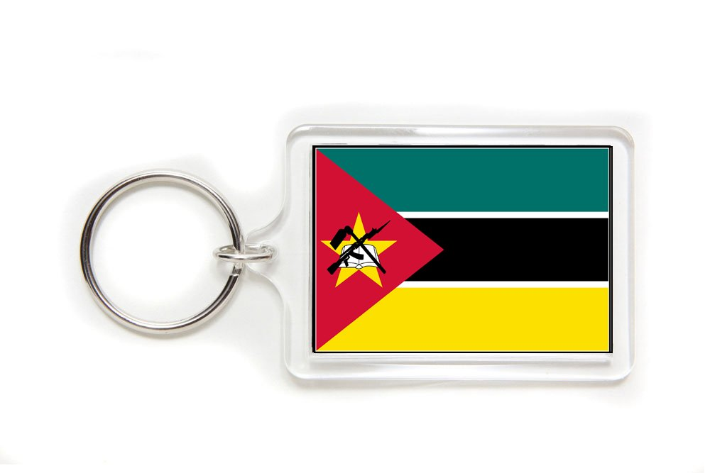 Mozambique Mozambican Flag Double Sided Acrylic Key Ring Small