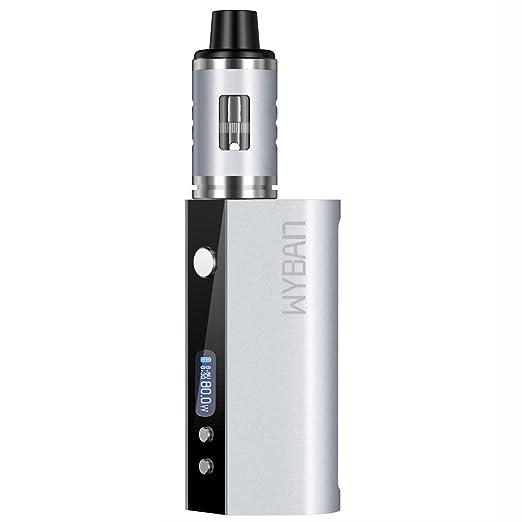 WYBAN Cigarrillo Electrónico 80W LCD Función de Relleno a Tope Atomizer 2ML/0.3ohm,Atomizadore Vapeador Kit,de Control de Salida de Aire, OLED 2600mah ...
