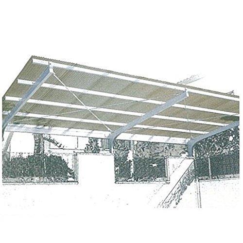 三菱ケミカル ポリカーボネート波板 ヒシ波ポリカ 9尺 10枚入り 『カーポートテラスの屋根の修理、雨漏りなどのメンテナンスやリフォームをDIYで』  グレースモークマット B0716WMDF1 18000  選択してください:グレースモークマット