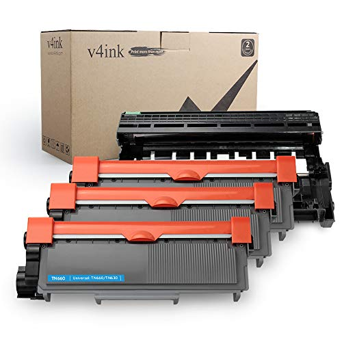 V4INK Compatible Toner Cartridge and Drum Unit Set Replacement for Brother TN660 TN630 DR630 (1 Drum + 3 Toner),for HL-L2340DW L2380DW HL-L2300D L2320D MFC-L2700DW L2740DW L2720DW DCP-L2540DW ()