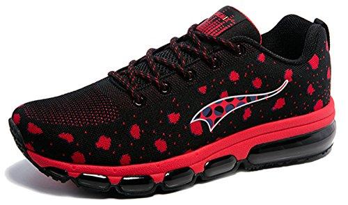 Onemix-Mens-Lightweight-Air-Cushion-Sport-Running-Shoes-Black-Red-12