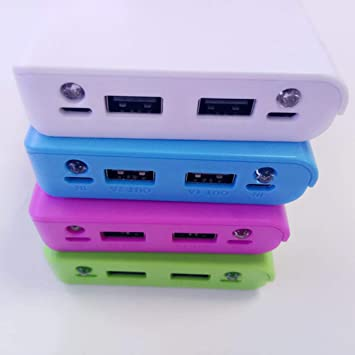 Moliies 30000mAh USB 2 Puertos Power Bank Case 8x18650 Cargador de batería Caja DIY para teléfono/Blanco: Amazon.es: Electrónica