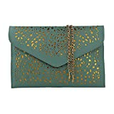 fashion women shoulder handbags chain bag (light green)