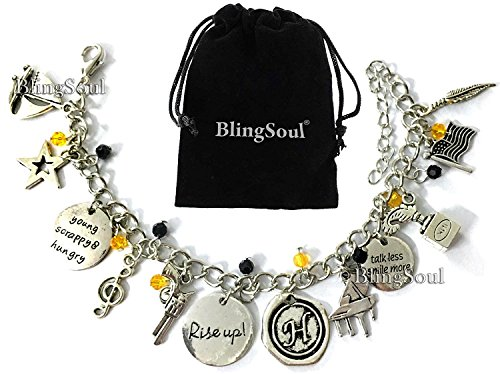 Broadway Musical Hamilton Jewelry Merchandise Charm Bracelet Rise Up Friendship Gifts - American Lin-Manuel Miranda Chain Bangle Kids Boys Girls Costumes
