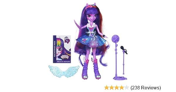 7cb6a87850b27 Amazon.com  My Little Pony Equestria Girls Singing Twilight Sparkle Doll   Toys   Games