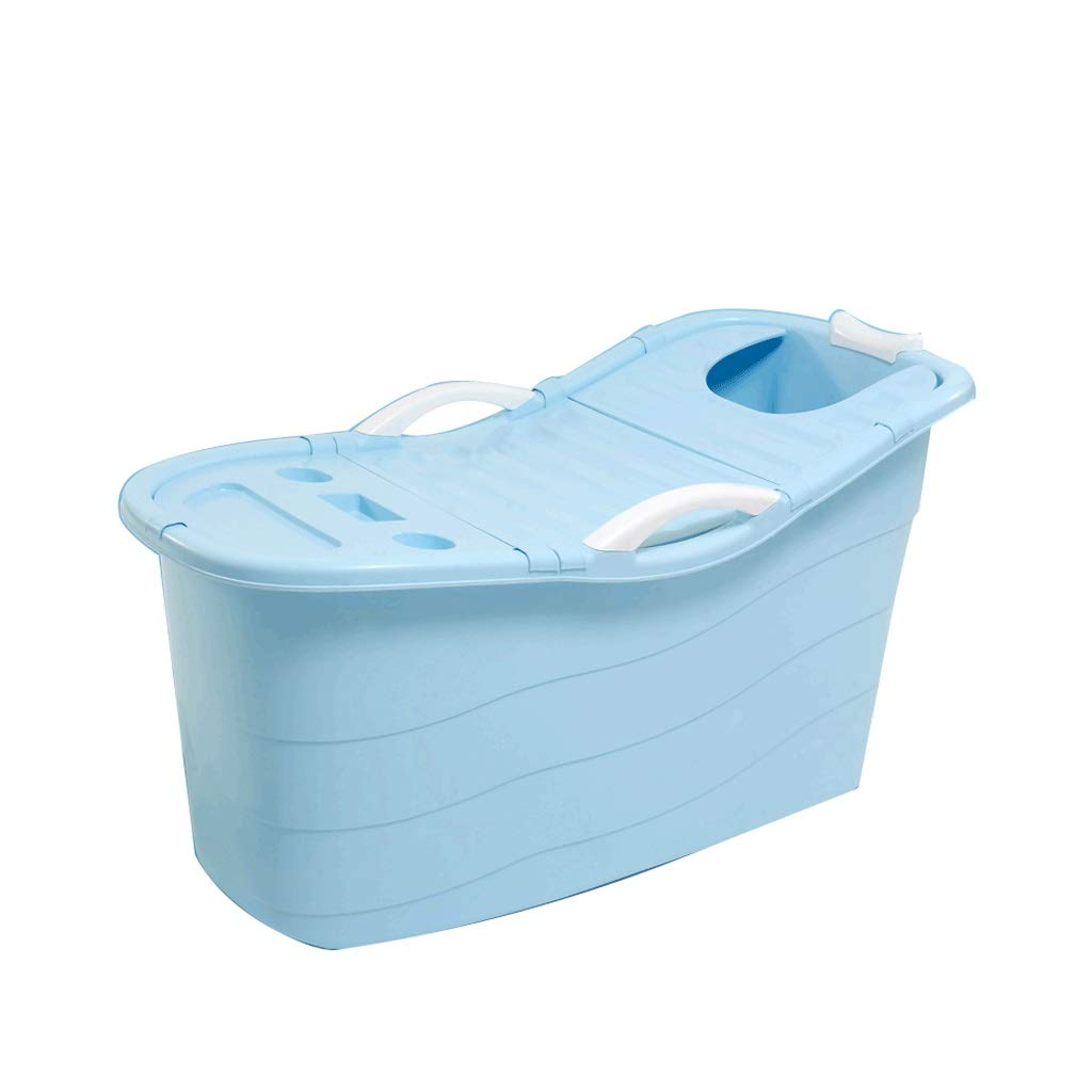Bath tub Large Adult Bathtub Bathtub Bathtub Bathtub Bathtub Thicken Bathtub Plastic Household Can Sit And Lie 4color (Color : Blue)