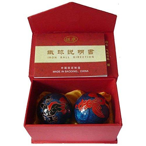 Chinois Traditionnel Ballon De Fitness Cloisonné Dragon Phoenix Ballon De Santé Décompression Handball 50mm 280g