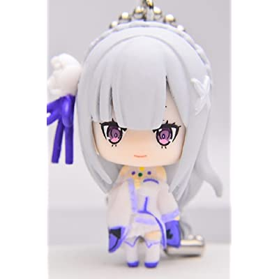 "Re: Zero Starting Life in Another World: Emilia Figure Keychain Mascot ~ Emilia""Half Elf"""