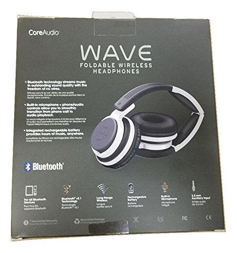 Amazon.com: CoreAudio Wave Foldable Wireless Headphones with Microphone Black: Home Audio & Theater