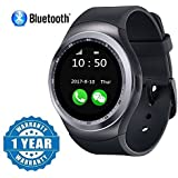 Captcha Y1 Bluetooth Smartwatch With Sim & TF Card Support, Suitable With All Devices (Color May Vary)