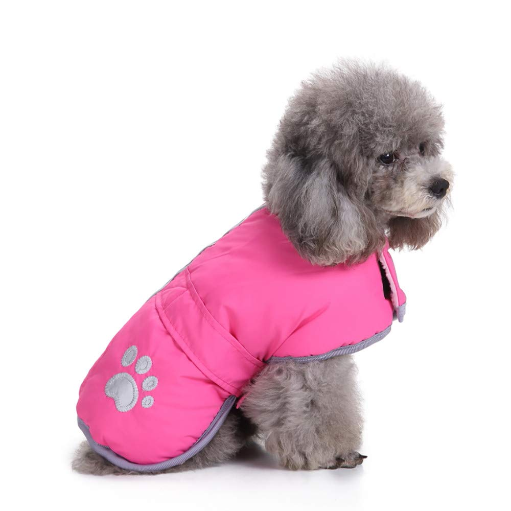 Amazon.com : BingYELH Reflective Dog Winter Jacket Velcro Reversible Puppy Warm Coat Pet Paw Print Parka Apparel Doggie Sweaters Pets Vest : Pet Supplies