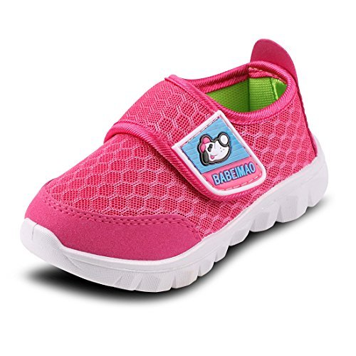 Baby Sneaker Shoes for Girls Boy Kids Breathable Mesh Light Weight Athletic Running Walking Casual Shoes(4 M US Toddler,Pink,19)