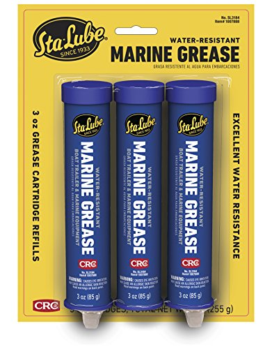 - CRC SL3184 Marine Grease for Boat Trailer and 4x4 Wheel Bearing, 3oz Cartridge