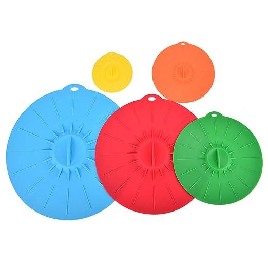 memo-river tapas de silicona, colorido silicona succión tapas ...