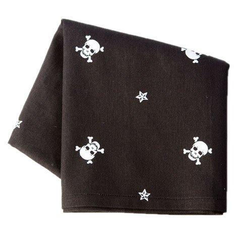 Sin in Linen Black Skull and Crossbones Kitchen Dish Towel