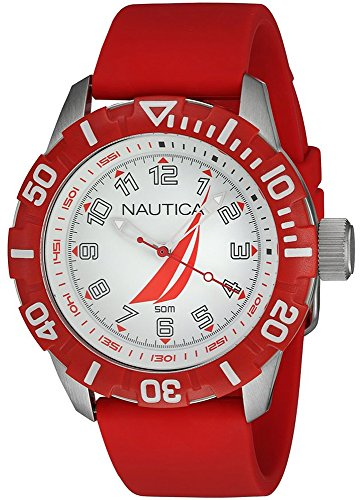 - Nautica nsr-100 j-Class Mens Analog Quartz Watch with Rubber Bracelet NAI08506G