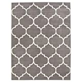 "Sweet Home Stores King Collection Moroccan Trellis Design Area Rug, 5'3"" X 7'0"", Grey: more info"