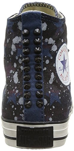 Converse Chuck Taylor All Star High Studded Hi Navy Stars, Stripes and Light Gray Splashes 142220C Limited Edition