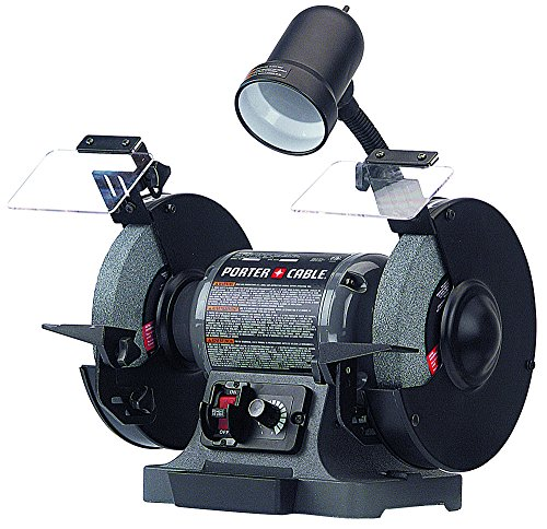 Great Deal! Porter-Cable PCB575BG 8″ Variable Speed Grinder with Work Lamp