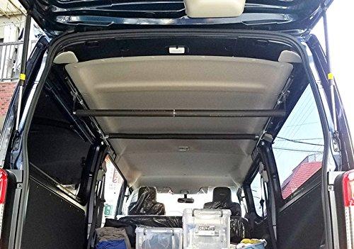 高さ自由自在!NV350 キャラバン DX サイドバー(ショート)&スライドバー2本セット 車内キャリア B0782T5L9K