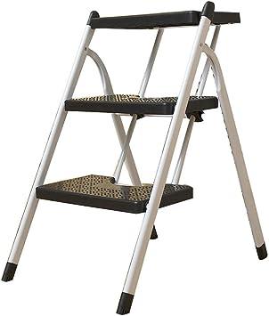 Inicio Simplicidad de la Moda Escalera en Blanco Y Negro Escalera Plegable para el Hogar Escalera Vertical Escalera de Doble Uso Escalera Mecánica Escalera Portátil para Interiores Escalera 3 Escaler: Amazon.es: Bricolaje