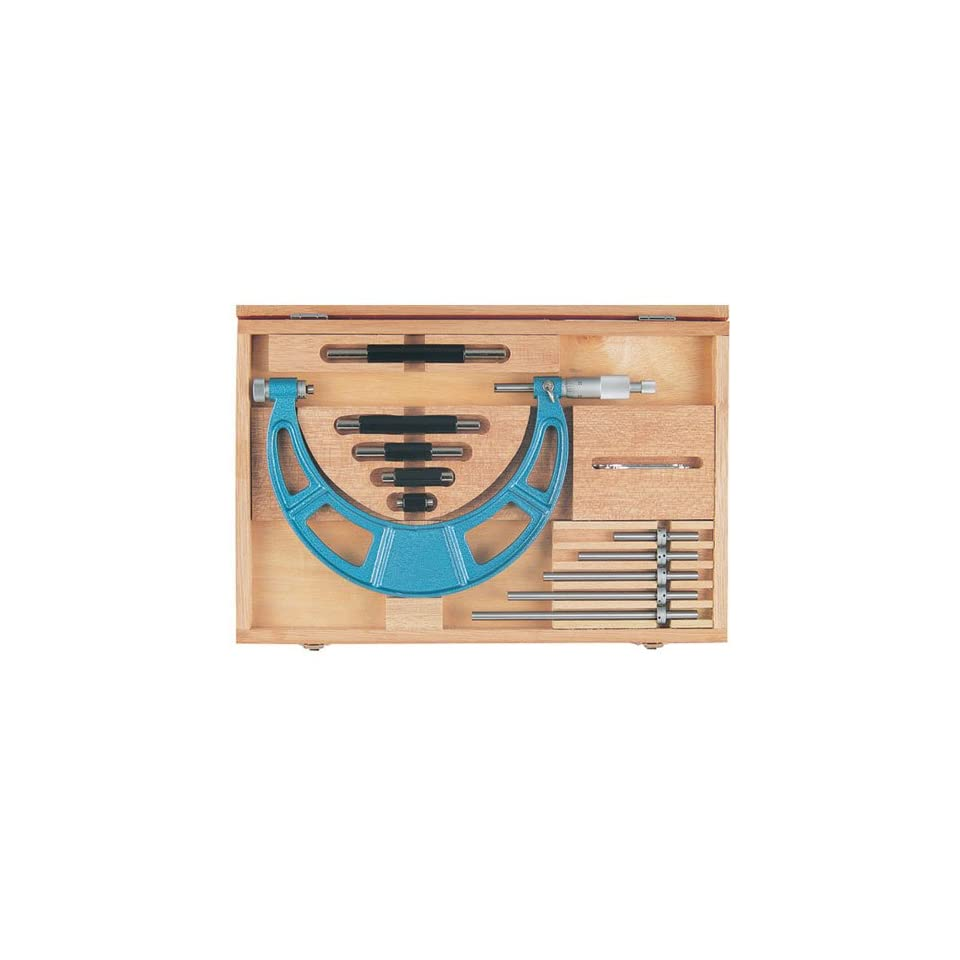 Fowler 52 401 205 1 Inch Series Interchangeable Anvil Micrometer Set, 16 20 Measuring Range, 0.001 Graduation Intervals