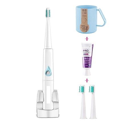 Sonic vibración cepillo de dientes eléctrico niños adultos universal recargable impermeable suave pelo cepillo de dientes