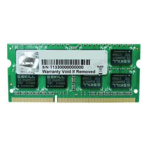 G.SKILL 8GB 204-Pin DDR3 SO-DIMM 1333 (PC3 10600) Laptop Memory Model F3-1333C9S-8GSL by G.Skill