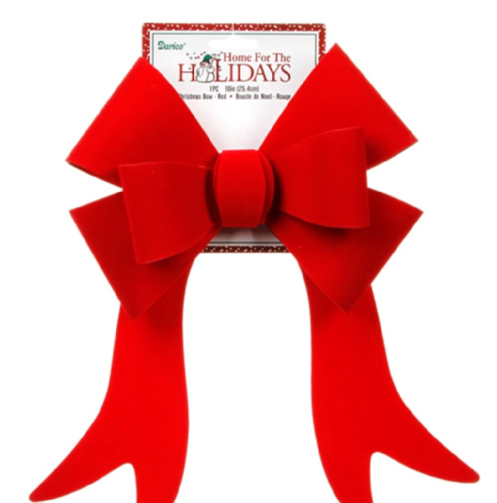 Decoration PVC Bow Red 10 Inch