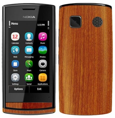 Amazon com: Nokia 500 Screen Protector + Light Wood Full