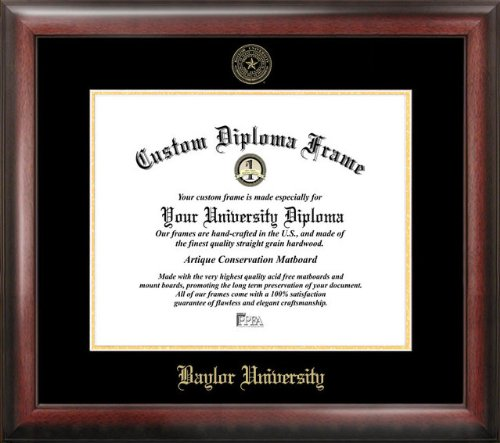 Campus Images Baylor University Bears Gold Embossed Diploma ()