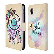 Head Case Designs Dreamcatcher Trend Mix Leather Book Wallet Case Cover For LG Nexus 4 E960