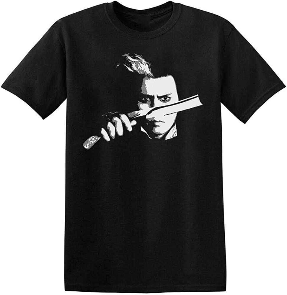 NR Demon Barber T Shirt Sweeney Todd Film Movie Johnny Depp