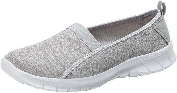 Femmes Semelle Souple Antidérapant Respirant Chaussures de Sport Décontractées Chaussures Paresseuses Facile à Porter Mocassin BaZhaHei