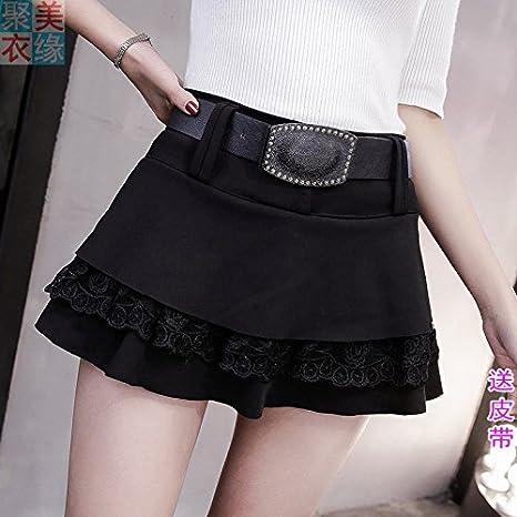 XiaoGao Mini Falda de Encaje Negro,M: Amazon.es: Deportes y aire libre