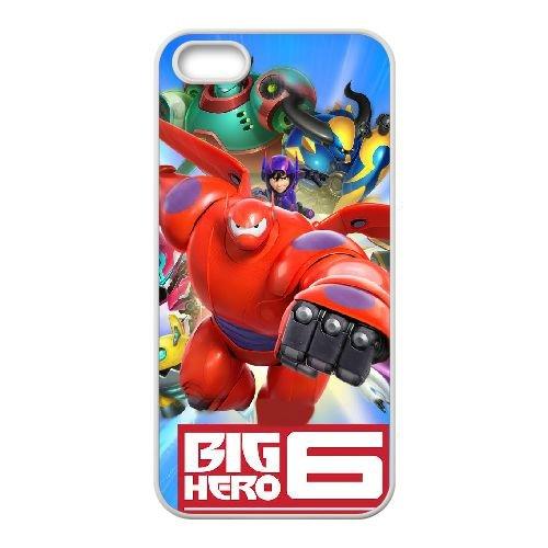 I3V27 Big Hero H3I8QO coque iPhone 5 5s cellule de cas de téléphone couvercle coque blanche DL3GQI4RA