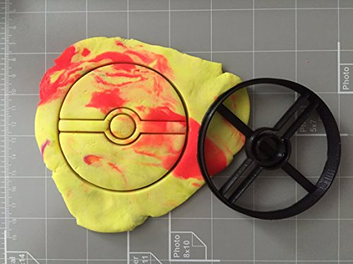 Pokemon Inspired Ball Cookie Cutter (2 inch)