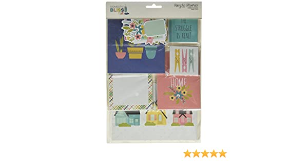 Clear Stickers Simple Stories DOMESTIC BLISS scrapbooking cardmaking