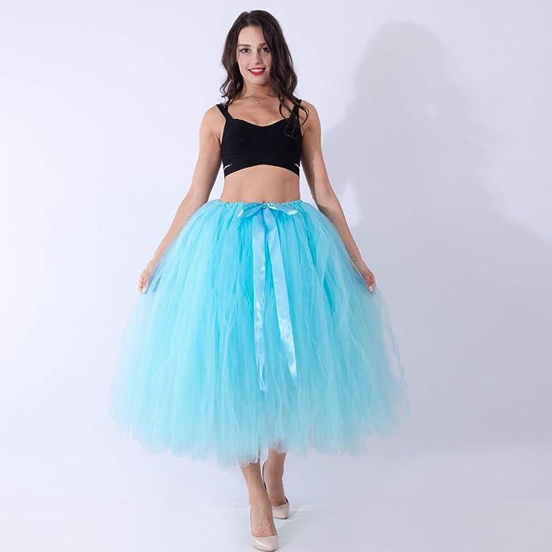 Lenfesh Mujeres Falda Tutu para Fiesta Danza Enagua Falda Corta ...
